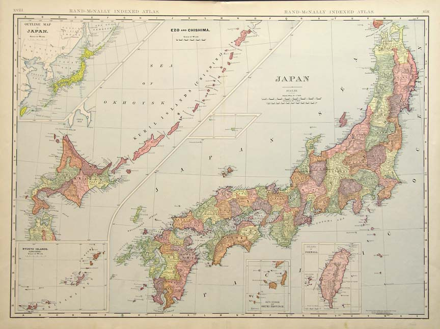 Ancient Map Of Japan.The Great Lost Treasure